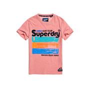 Superdry T-shirt Surf Team Roze (M10100IU - T4O)