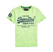 Superdry T-Shirt Vintage Logo Fluor Green (M10109YT - 2F7)
