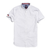Superdry Overhemd Korte Mouw Wit (M40118AU - W4W)
