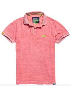 Superdry Orange Label Jersey Polo Roze (M11206EU - QP5)
