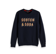 Scotch & Soda Sweater Navy Blauw Met Logo (150525 - 57)
