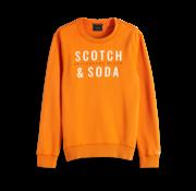 Scotch & Soda Sweater Oranje Met Logo (150525 - 2915)