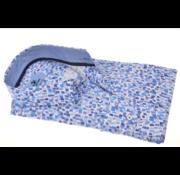 Culture Overhemd Korte Mouw Modern Fit Print Blauw (214959 - 35)