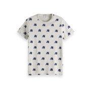 Scotch & Soda T-shirt Ronde Hals Grijs Print (151282 - 17)