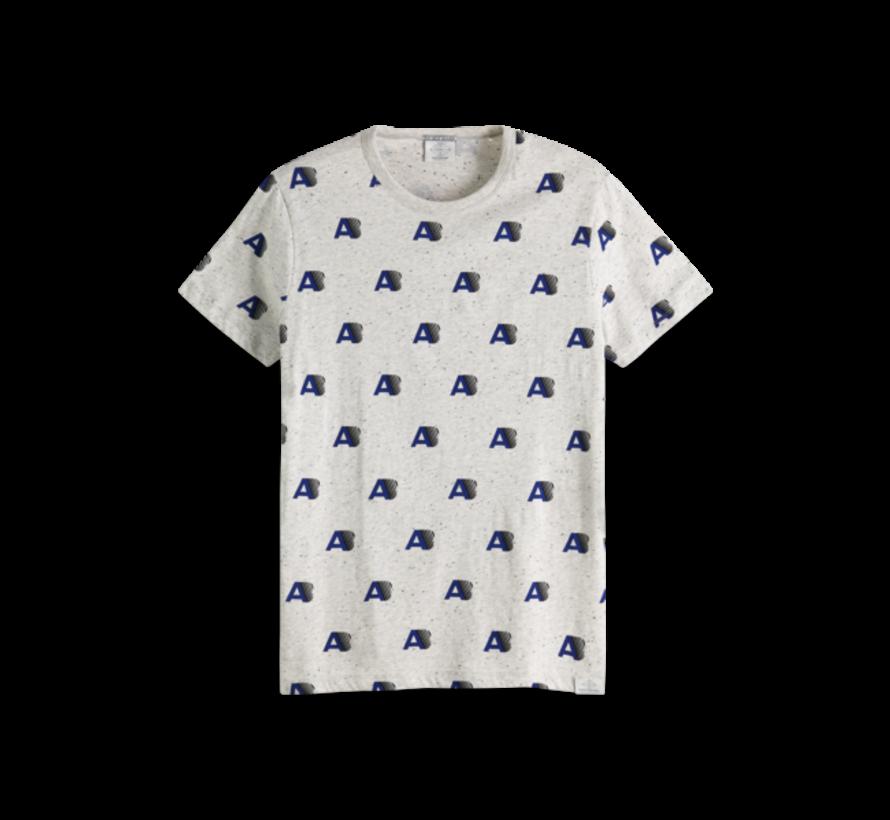 T-shirt Ronde Hals Grijs Print (151282 - 17)