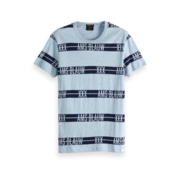 Scotch & Soda T-shirt Ronde Hals Blauw Print (151282 - 19)