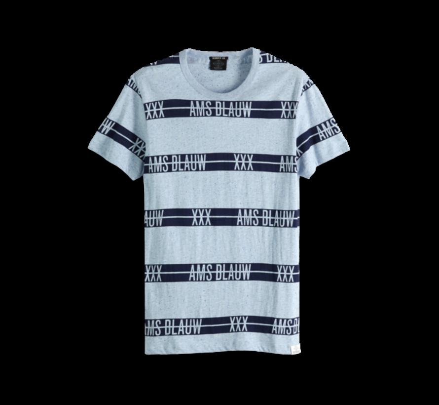 T-shirt Ronde Hals Blauw Print (151282 - 19)