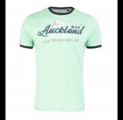 New Zealand Auckland T-shirt Korte Mouw Logo Neon Green (19CN709 - 468)
