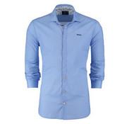 New Zealand Auckland Overhemd Jacobs blauw (18AN515 - 370)