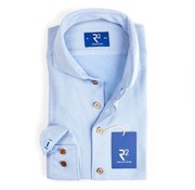 R2 Amsterdam Jersey Overhemd Blauw (95.CA.36 - 018)