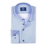 R2 Amsterdam Overhemd Blauw Print (103.HBD.225 - 014)