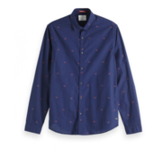 Scotch & Soda Overhemd Lange Mouw Navy Print (150491 - 19)
