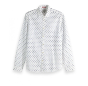 Scotch & Soda Overhemd Lange Mouw Wit Print (150491 - 20)