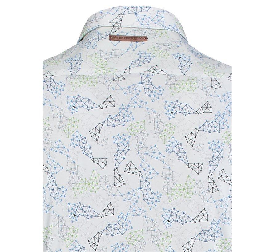 Overhemd Molecules Print (91.02.020)