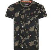 Superdry T-shirt IJsjes Camouflage Groen (M10250NT - A6E)