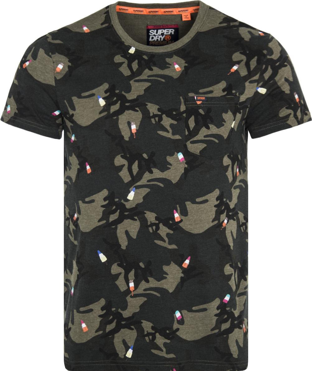 c2aa5f28d61 Superdry T-shirt IJsjes Camouflage Groen (M10250NT - A6E ...