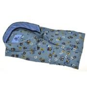 Culture Overhemd Modern Fit Print Blauw (214945 - 33)