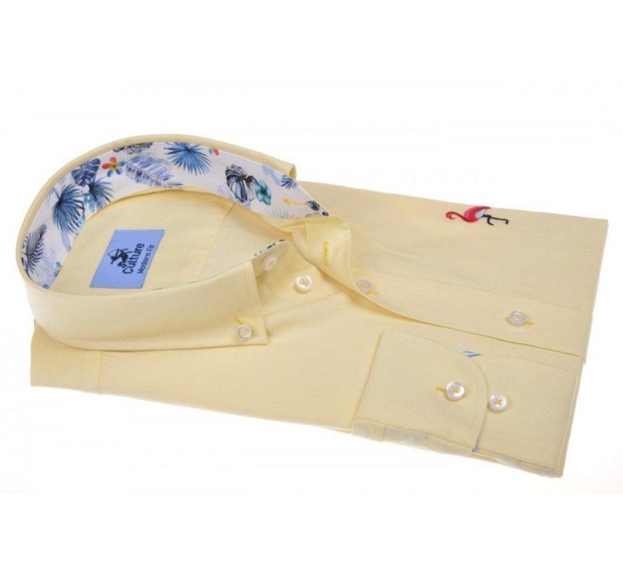 Overhemd Modern Fit Geel (214830 - 62)