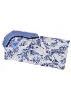 Culture Overhemd Modern Fit Print Bloemen Wit/Blauw (214939 - 35)