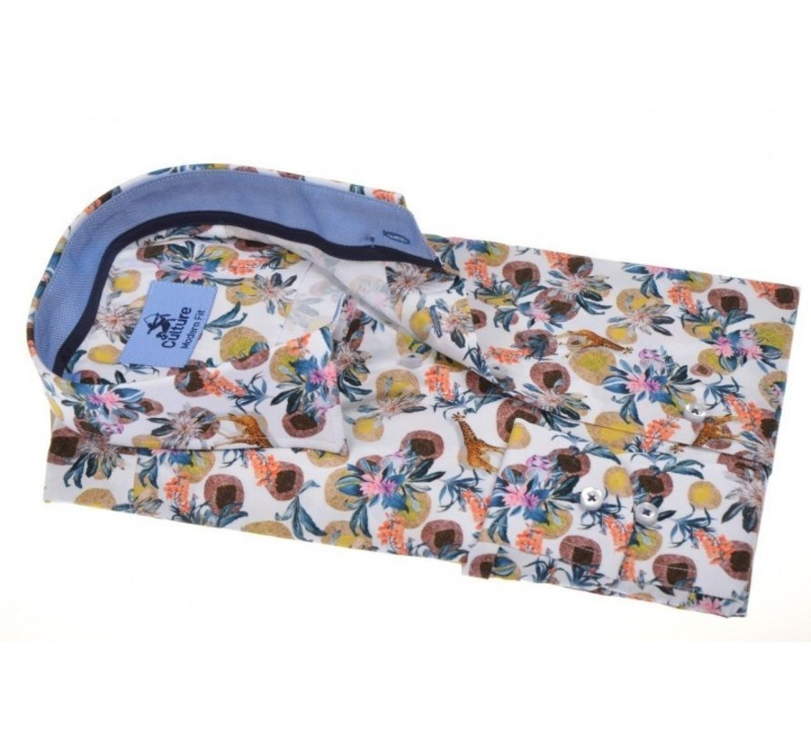 Overhemd Modern Fit Print Multicolor (214934 - 45)