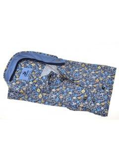 Culture Overhemd Modern Fit Print Bloemen Blauw (214944 - 36)