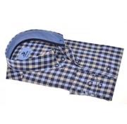 Culture Overhemd Modern Fit Ruit Blauw/Beige (214795 - 33)