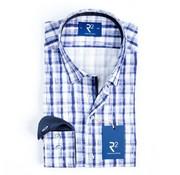 R2 Amsterdam Overhemd Ruit Blauw (100.HBD.08 - 045)