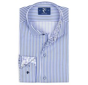 R2 Amsterdam Overhemd Streep Blauw (104.WSP.046 - 014)