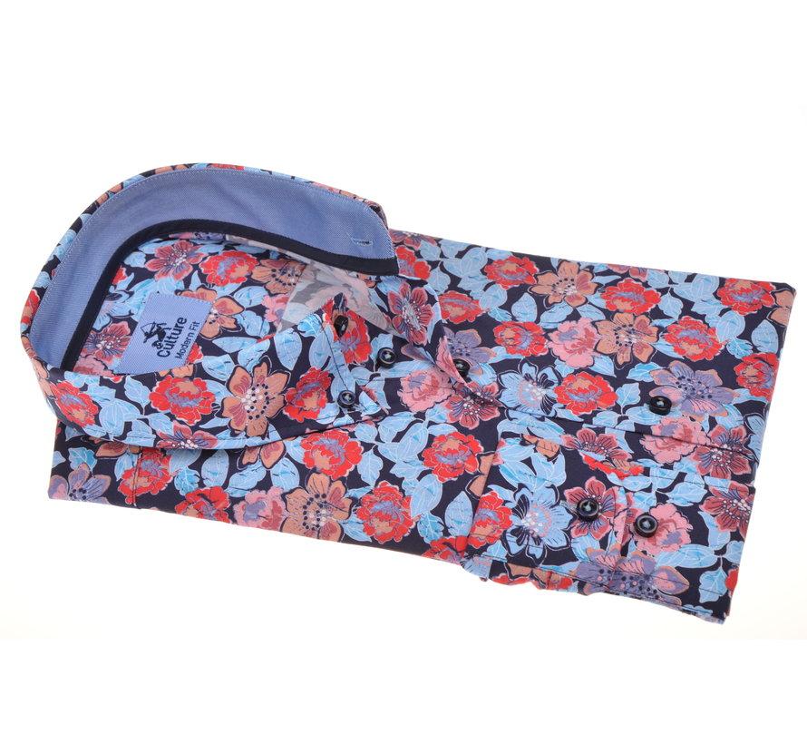 Overhemd Modern Fit Bloemenprint Multicolor (214898 - 84)