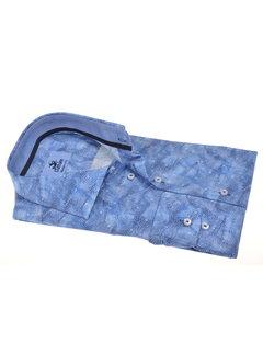 Culture Overhemd Modern Fit Blauw Print (214941 - 35)