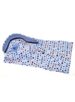 Culture Overhemd Modern Fit Wit Met Blauwe Cirkels (214937 - 35)