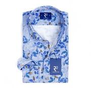 R2 Amsterdam Overhemd Extra Mouwlengte Print Blauw (104.WSP.XLS.111 - 0014)
