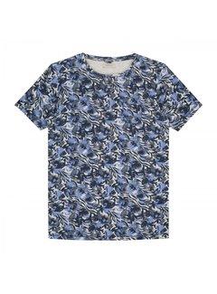 Dstrezzed T-shirt Print Blauw Mel. (202398 - 893)