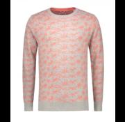 Dstrezzed Sweater Palm Grijs/Koraal (404182 - 893)