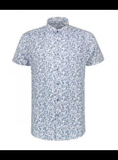 Dstrezzed Korte Mouw Overhemd Print Horizon Blue (311132 - 626)