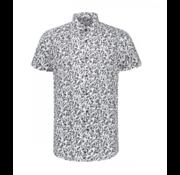 Dstrezzed Korte Mouw Overhemd Print Dark Navy (311132 - 649)