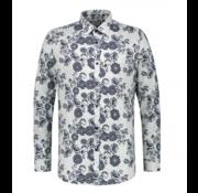 Dstrezzed Overhemd Stretch Bloemenprint (303208 - 100)