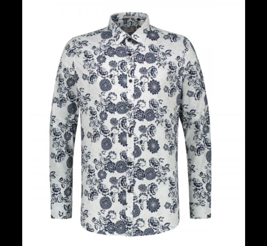 Overhemd Stretch Bloemenprint (303208 - 100)