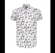 Dstrezzed Korte Mouw Overhemd Print Hawaii Wit (311138 - 100)