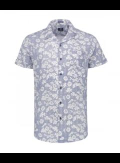 Dstrezzed Korte Mouw Overhemd Print Blue (311134 - 625)