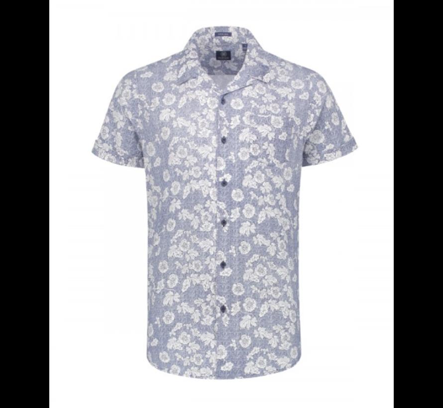 Korte Mouw Overhemd Print Blue (311134 - 625)