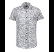 Dstrezzed Korte Mouw Overhemd Print Navy (311134 - 669)