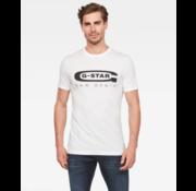 G-star T-Shirt Wit Met Zwart Logo (D15104 - 336 - 110)