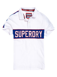 Superdry Polo Logo Wit (M11014ET - 01C)
