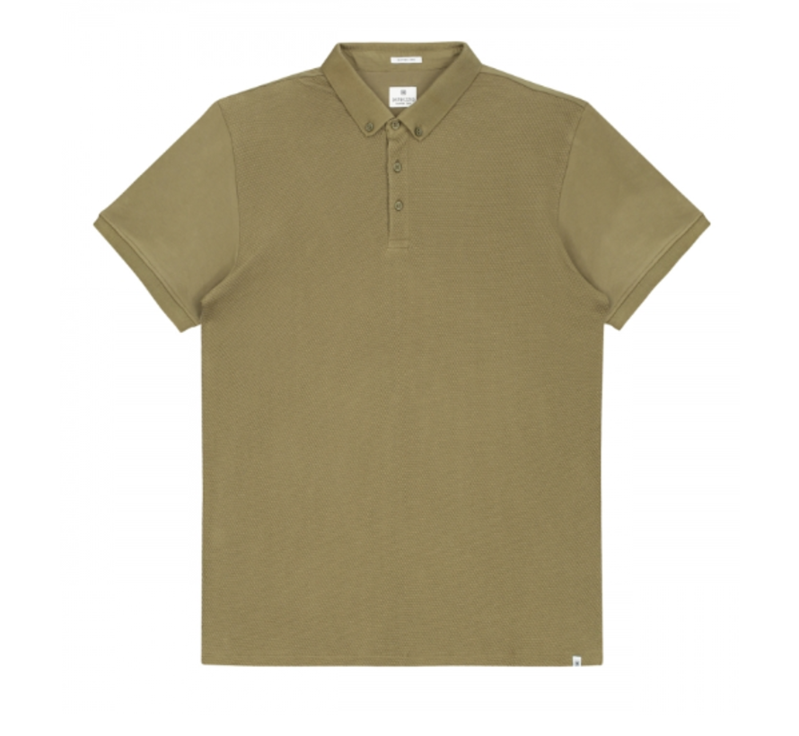 Polo Honeycomb Jersey Stretch Army Groen (202356 - 511)