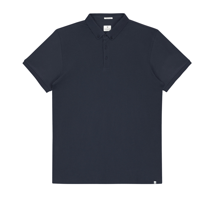 Polo Honeycomb Jersey Stretch Navy (202356 - 669)