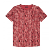 Dstrezzed T-shirt Print Coral Rood (202375 - 428)