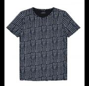 Dstrezzed T-shirt Print Navy Melange (202375 - 650)
