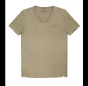 Dstrezzed T-shirt V-hals Jersey Bruin (202386 - 205)