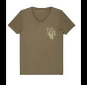 Dstrezzed T-shirt V-hals Jersey Army Groen (202390 - 511)